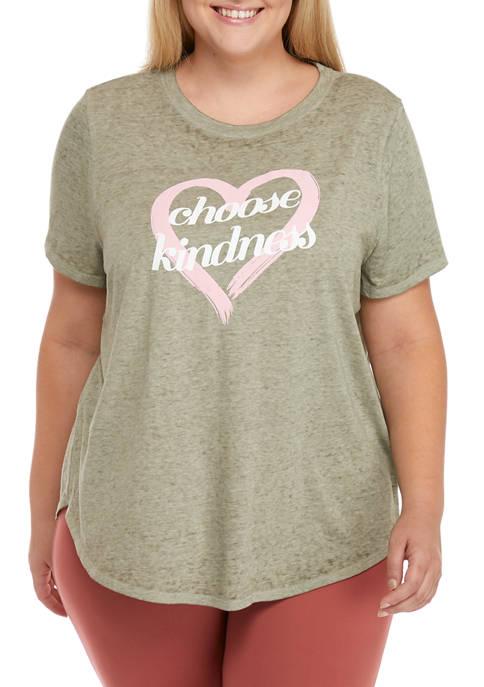Studio Plus Size Choose Kindness Graphic T-Shirt