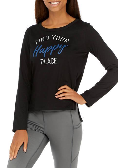 New Directions® Studio Womens Long Sleeve Side Slit
