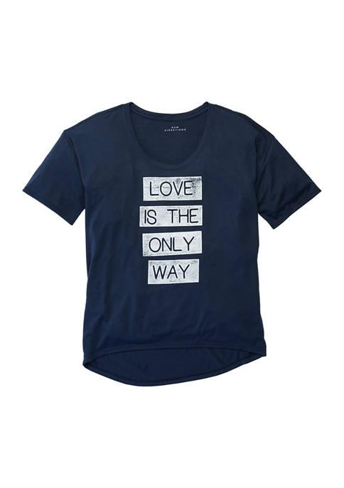 Studio Womens Loose Graphic T-Shirt