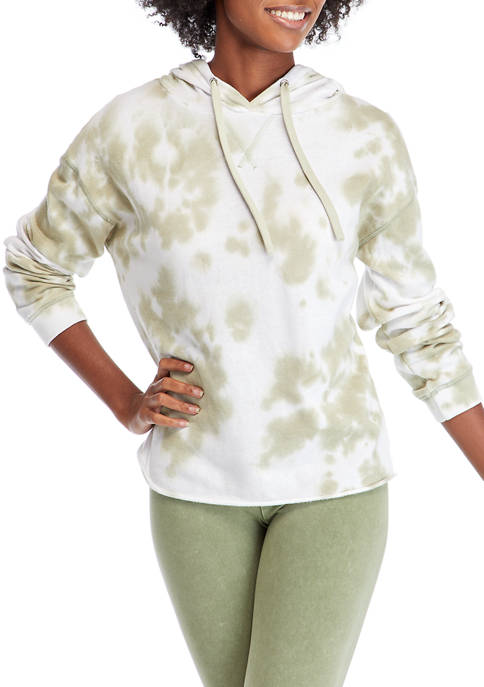 Studio Womens Long Sleeve Washed Pullover Hoodie