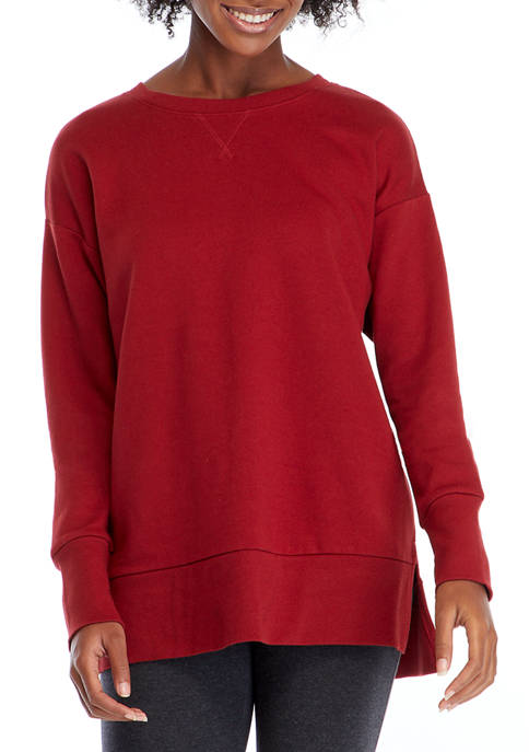 New Directions® Studio Womens Long Sleeve Washed Tunic