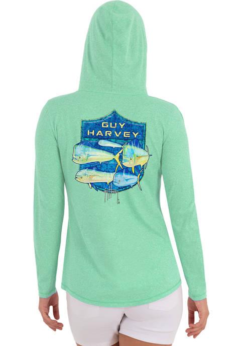Guy Harvey Womens Sailfish Original Performance Hooded T-Shirt