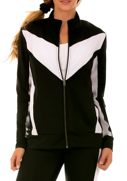 InstantFigure Womens Two-Tone Jacket