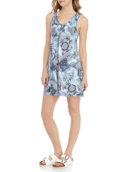 New Directions® Womens Sleeveless Americana Swing Dress
