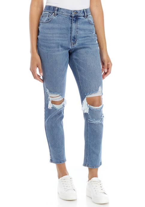 Womens Destructed Boyfriend Jeans