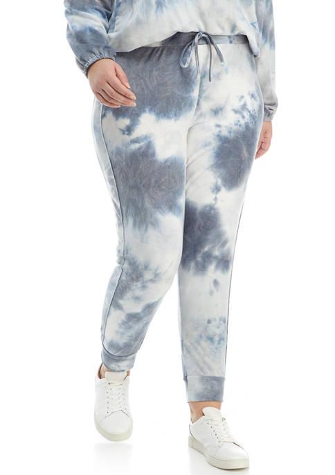 Studio Plus Size Printed Hacci Jogger Pants