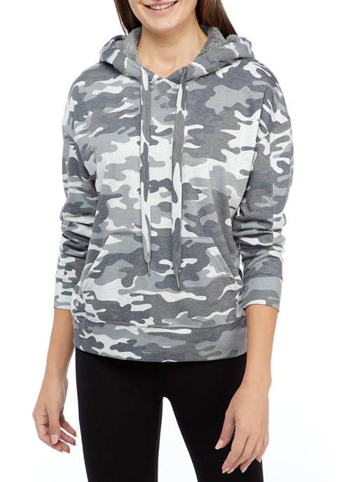 New Directions® Studio Womens Long Sleeve Hoodie