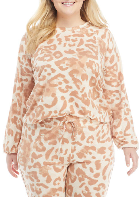 New Directions® Studio Plus Size Printed Flare Sleeve
