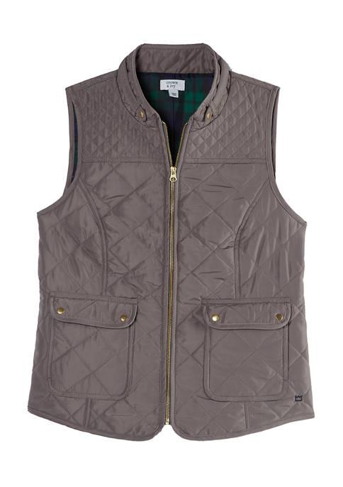 Crown & Ivy™ Womens Sleeveless Puffer Vest