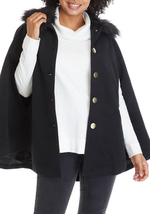 Crown & Ivy™ Womens Cape Sleeve Jacket