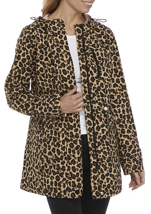 Crown & Ivy™ Womens Printed Anorak Jacket