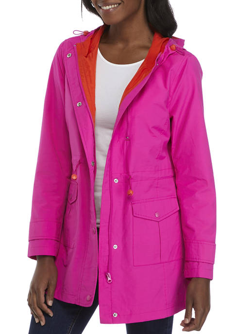 Crown & Ivy™ Womens Solid Anorak Jacket