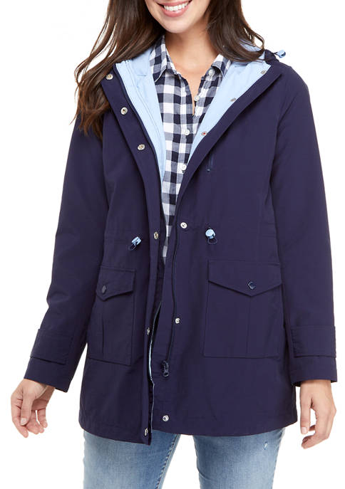 Crown & Ivy™ Womens Anorak Jacket with Hood