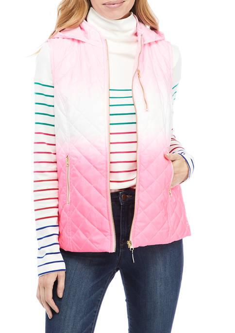 Crown & Ivy™ Womens Dip Dye Hooded Vest
