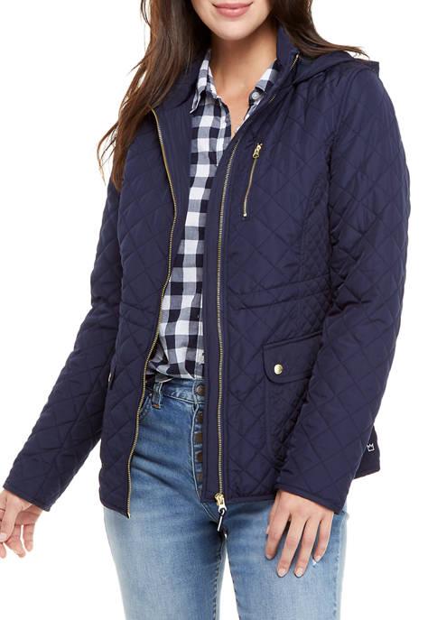 Crown & Ivy™ Womens Hooded Barn Jacket