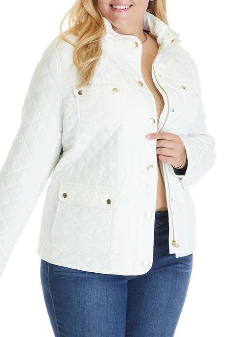 Crown & Ivy™ Plus Size Long Sleeve Quilted