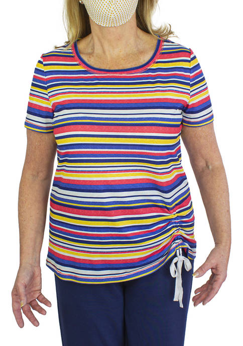 Womens Asymmetric Side Tie T-Shirt