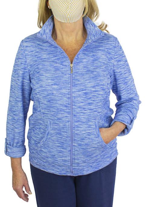EMILY DANIELS Womens Long Sleeve Mock Neck Jacket