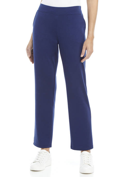 Kim Rogers® Womens French Terry Pull On Pants