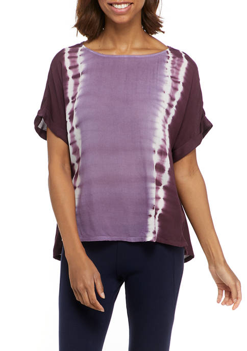 New Directions® Studio Womens High Low Wide Neck