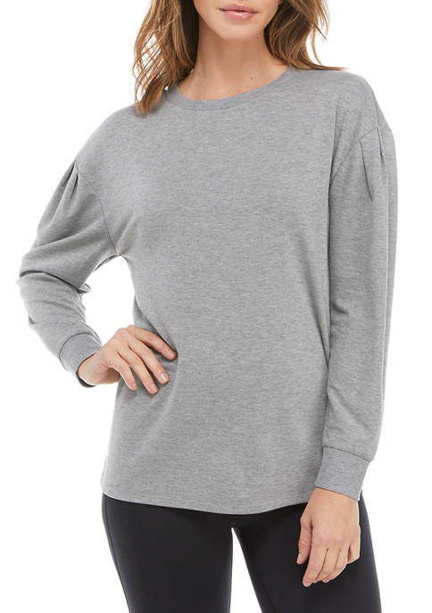 Crown & Ivy™ Petite Puff Sleeve Pullover