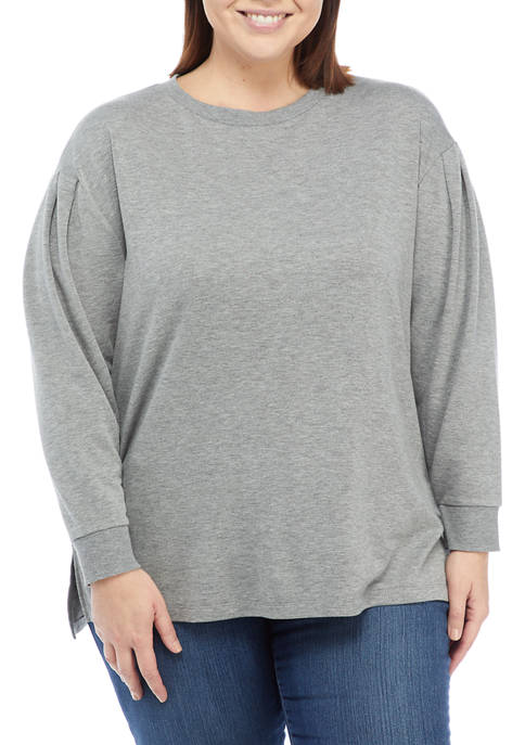 Crown & Ivy™ Plus Size Long Puff Sleeve