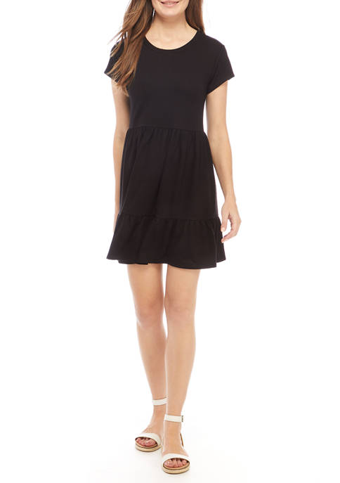 Crown & Ivy™ Womens Short Sleeve Tiered Ruffle