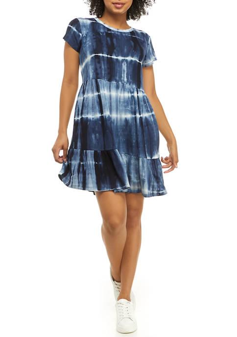 Crown & Ivy™ Womens Short Sleeve Tie Dye