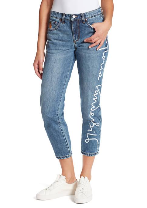 Gloria Vanderbilt Womens Miles Ankle Jeans with Print