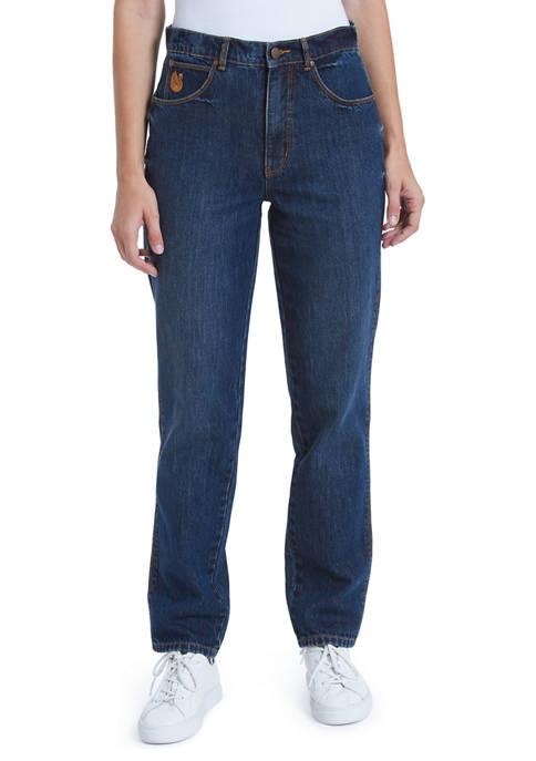 Gloria Vanderbilt Womens High Rise Straight Leg Jeans