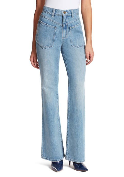 Gloria Vanderbilt Womens Chrissie High Rise Flare Jeans
