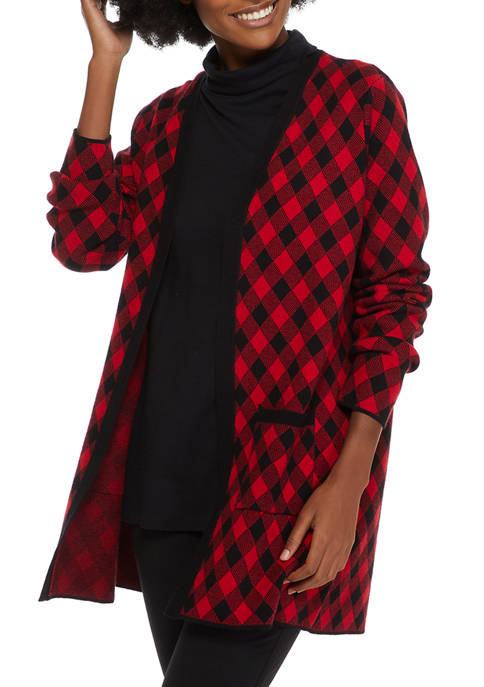 Kim Rogers® Womens Sweater Cardigan