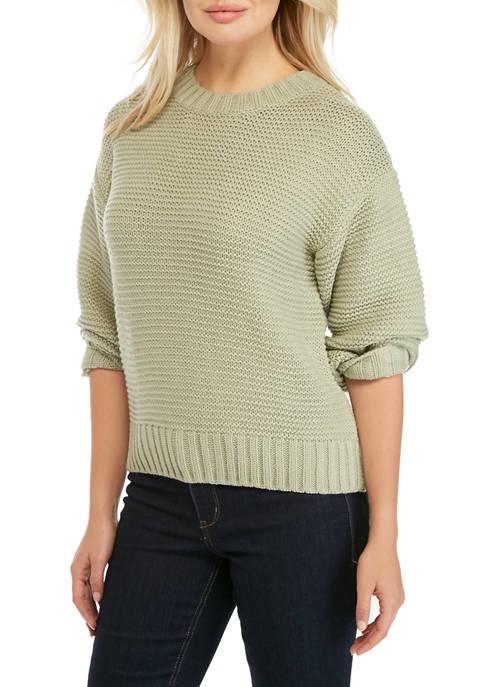 Womens Long Sleeve Drop Shoulder Sweater