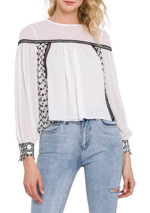 Endless Rose Floral Embroidered Top