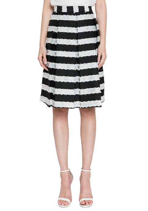Endless Rose Striped Midi Skirt