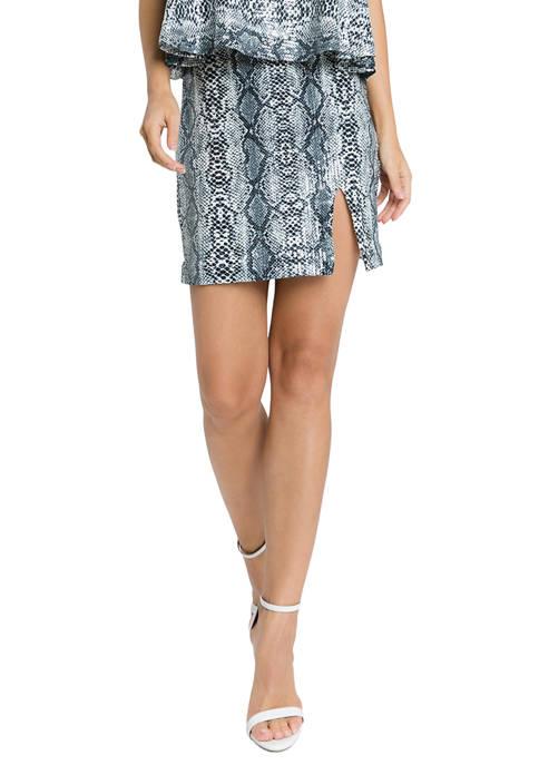 Endless Rose Python Skirt