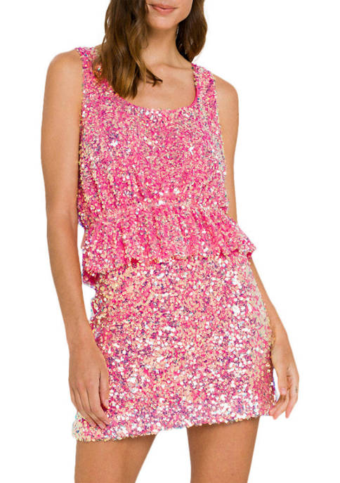 Endless Rose Sequin Cropped Top