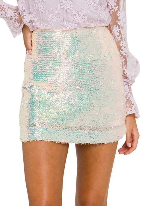 Endless Rose Womens Sequins Mini Skirt