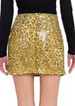 Leopard Pattern Sequin Skirt