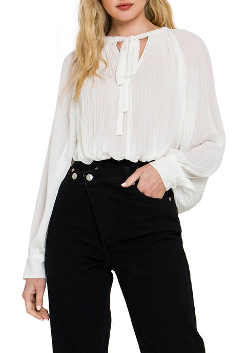 Endless Rose Juniors Pleated Blouse