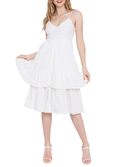 Endless Rose Womens Two Tiered Dress
