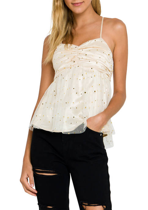 Endless Rose Ruched Crossback Cami Top