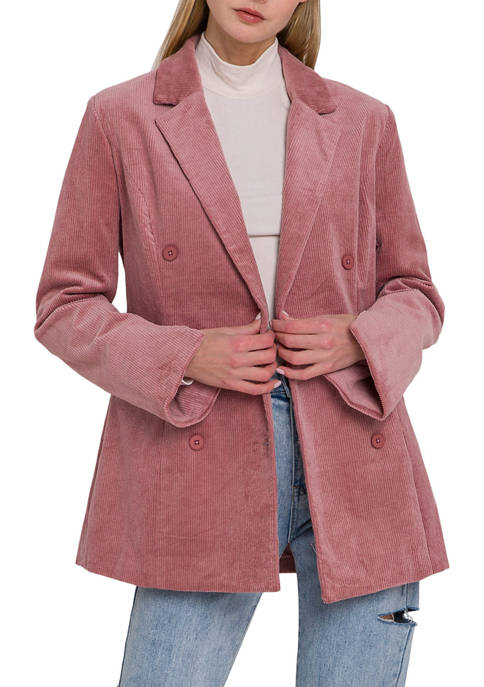 Endless Rose Womens Corduroy Double Breasted Jacket