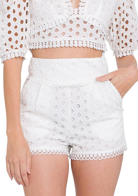 Endless Rose Trimmed High Waist Shorts