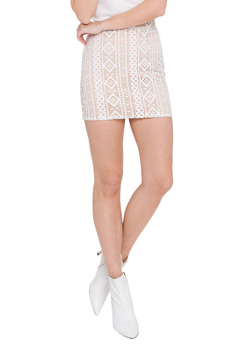 Endless Rose Striped Lace Skirt