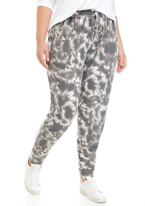 New Directions® Studio Plus Size Brushed Hacci Jogger