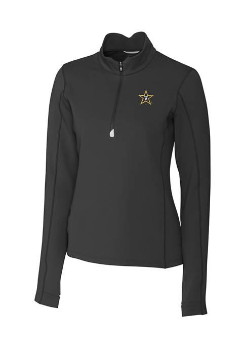 Womens NCAA Vanderbilt Commodores Long Sleeve Traverse Half Zip Pullover