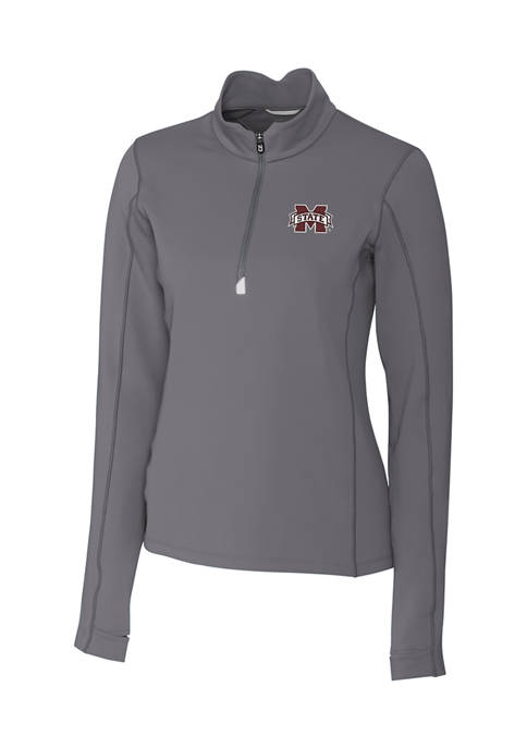Womens NCAA Mississippi State Bulldogs Long Sleeve Traverse Half Zip Pullover