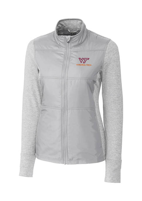 Womens NCAA Virginia Tech Hokies Long Sleeve Stealth Full Zip Jacket