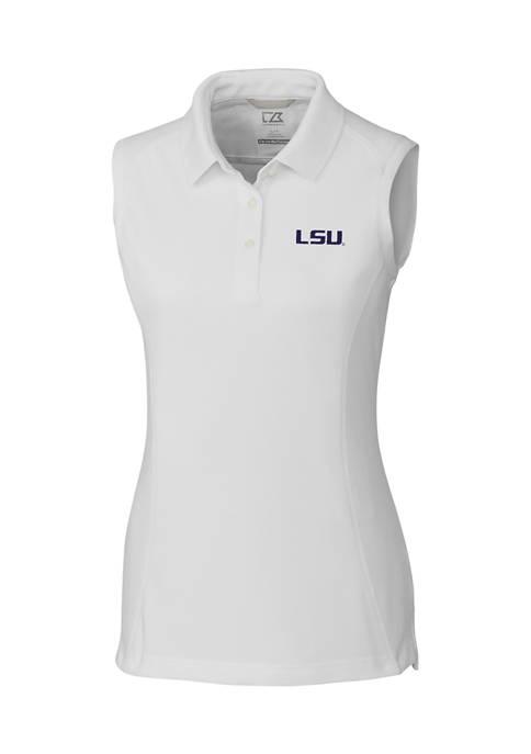 NCAA LSU Tigers Womens Sleeveless Advantage Polo Shirt